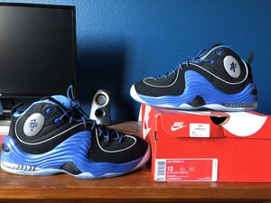 Nike penny 2 size 12 blue black sole collector colors for Sale in Reedley, CA