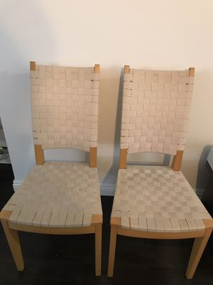 """17"""" Weaved Seat Wood Chair (1 for $110) (2 for $200) for Sale in New York, NY"""