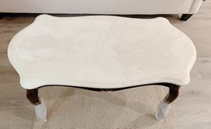 Vintage marble woody side lounge coffee tables for Sale in Brooklyn, NY