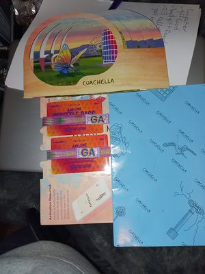 Coachella wristbands and shuttle passes 2 each weekend one in oct. for Sale in Seattle, WA