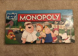 $10!!! Family Guy Collectors Edition Monopoly Board Game Pewter Pieces Hasbro for Sale in Irvine, CA