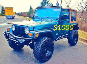 I sell urgent 2000 Jeep Wrangler TJ-$1000 for Sale in Washington, DC