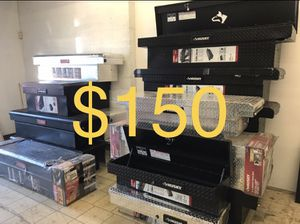 Husky 61.86 Matte Black Aluminum Low Profile Crossbed Truck Tool Box for Sale in South El Monte, CA