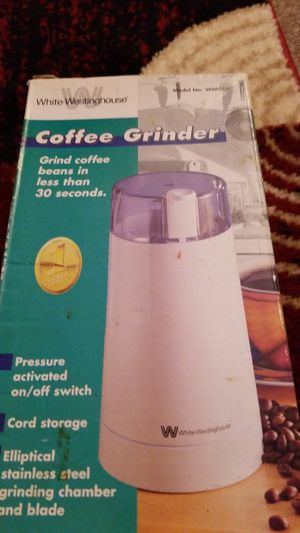 White Westinghouse coffee grinder for Sale in Virginia Beach, VA