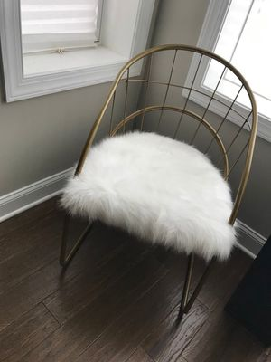 2 Gold a faux fur chairs for Sale in Washington, DC