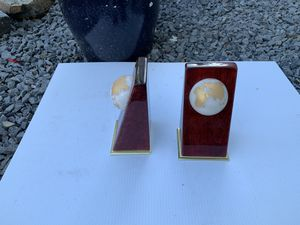 Urethane globe bookends for Sale in Milford, MA
