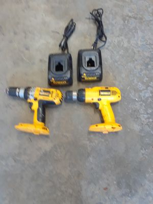Dewalt drills and two chargers no batteries. for Sale in Monroe, WA