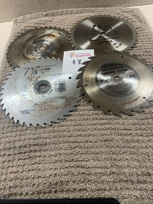 4 - 7 1/4 inch circular saw blades for Sale in Castle Creek, NY