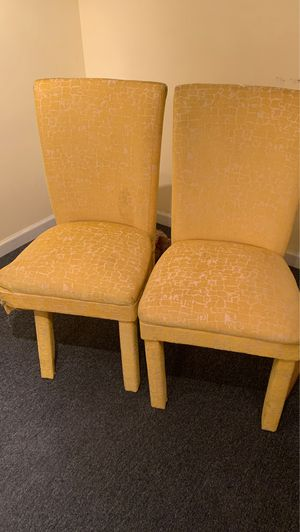 Yellow dining chairs for Sale in Steelton, PA
