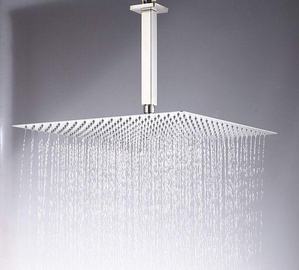12-inch Brushed Nickel OR Chrome......Rainfall Shower Head + Hand Spray