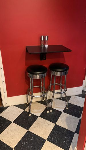 Small kitchen foldable table and stools for sale. for Sale in Somerville, MA