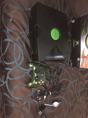 Xbox with box, cables, and controller for Sale in Hoquiam, WA