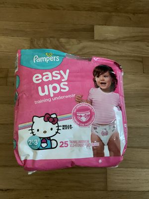 Pampers Easy Ups Training Underwear Size 2-3T 25 pack Hello Kitty for Sale in Pico Rivera, CA