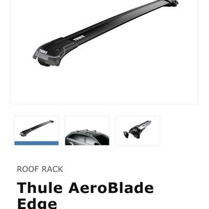 Thule Aeroblade Edge Roof Rack for 2017 Audi Q7 for Sale in North Attleborough, MA