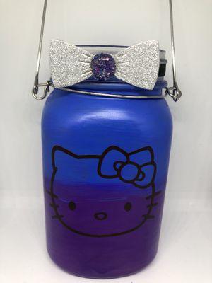 Hanging hello kitty Sanrio lamp lantern nightlight lighted bottle for Sale in Allentown, PA