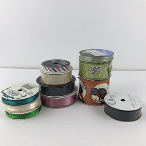 11 New Assorted Ribbons Halloween Glitter Black Green Satin Crafts Art for Sale in Huntington Beach, CA