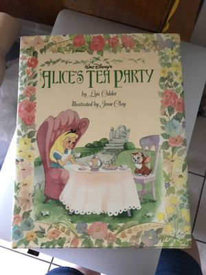Disney Alices Tea Party (near mint condition w/ dust jacket) for Sale in Queens, NY