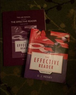 The effective reader fourth edition textbook w the lab by mary dubbe for Sale in Milnesville, PA