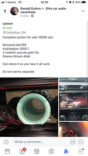 Complete car audio system for Sale in Columbus, OH