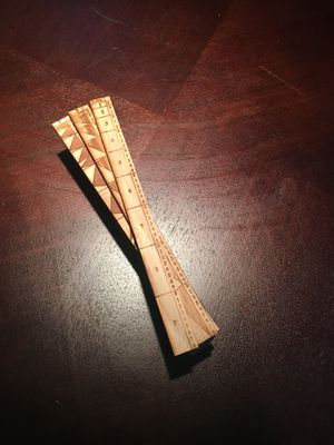 Lucas rulers/ wooden calculators for Sale in Sudbury, MA