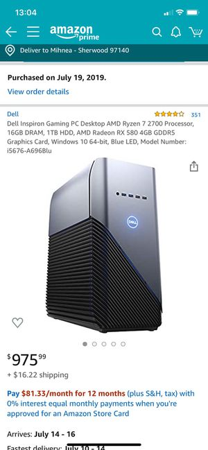 Dell Gaming PC for Sale in Sherwood, OR