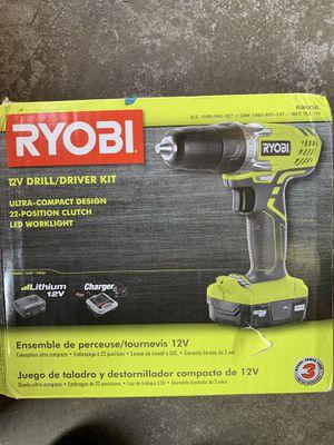 Ryobi 12v drill/driver kit for Sale in Fresno, CA