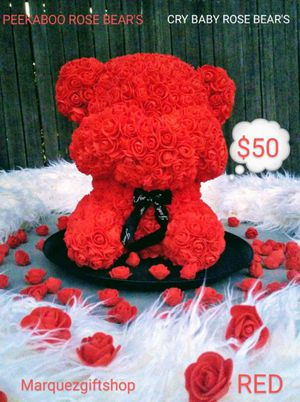 Peekaboo or cry baby ROSE BEAR only at Marquezgiftshop for Sale in Riverside, CA