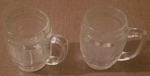 Mini barrel clear shot glass set 2- for Sale in Three Rivers, MI