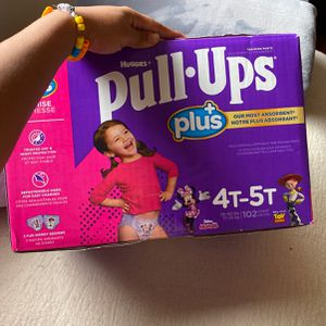 Huggies Pull.Ups, Toddler Girl, Size:4T-5T for Sale in Burbank, CA