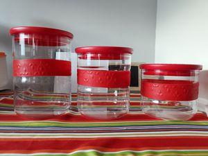Princess House Fantasia fresh red dry goods set for Sale in Orange, CA