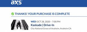 Kaskade Oct 28 2020 GA for Sale in Mission Viejo, CA
