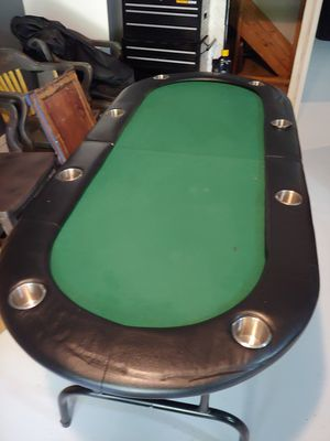 Poker Table! With Protective Cover for Sale in Woodbridge, VA