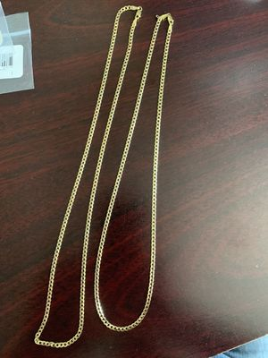 14kt solid cuban link chain for Sale in League City, TX