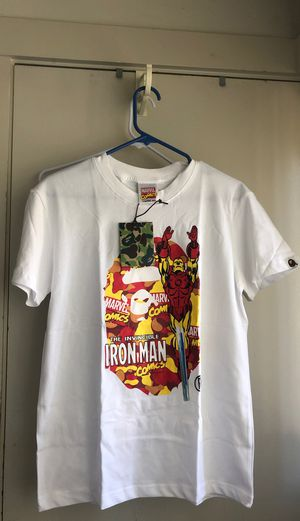 Bape x Marvel Iron Man Tee, Size Small for Sale in Fremont, CA