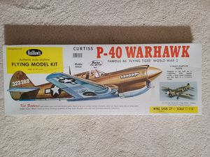 Guillow's Curtiss P-40 Warhawk Model Kit for Sale in Fairfax, VA