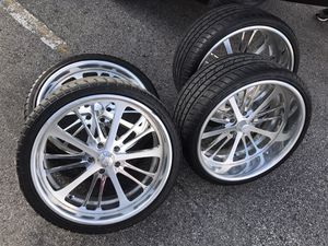 """22"""" Billet Intro 5x5 5x127 Staggered offset wheels rims tires for Sale in Cicero, IL"""
