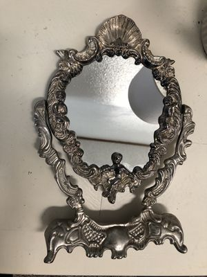 Silver plated antique mirror for Sale in Cheyenne, WY