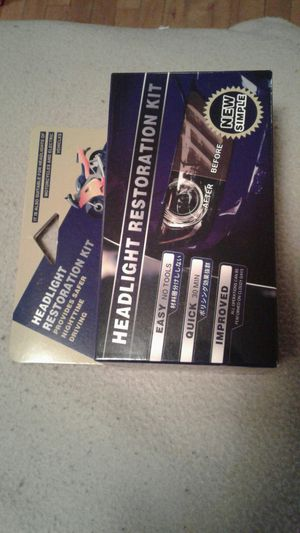 Headlight restoration kit for Sale in Worcester, MA