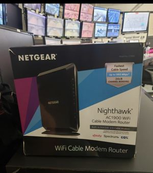 NETGEAR NIGHTHAWK AC1900 Dual Band Cable Modem Router Combo model (C7000v2) for Sale in Coral Gables, FL