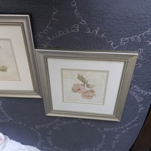 2 Flower Frames With Silver Frame for Sale in Modesto, CA