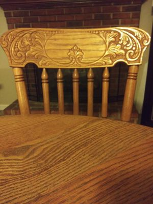 Table and 4 chairs/ table extension for Sale in Roanoke, VA