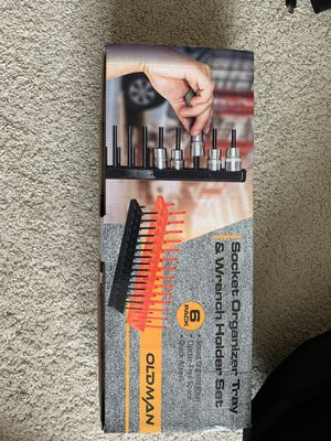 NEW 6 pack of Socket Organizer Tray and 12 Tool Wrench Holder Set for Sale in Richmond, TX
