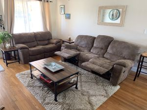 Recliner Sofa, Love seat, rolling coffee table & 2 end tables for Sale in LAUD BY SEA, FL