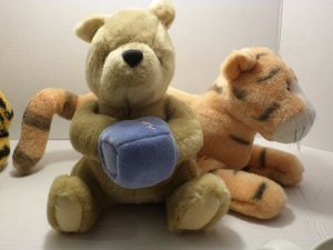 Classic Pooh Gund Pooh w hunny & Tigger plush toys stuffed animals for Sale in Independence, OR