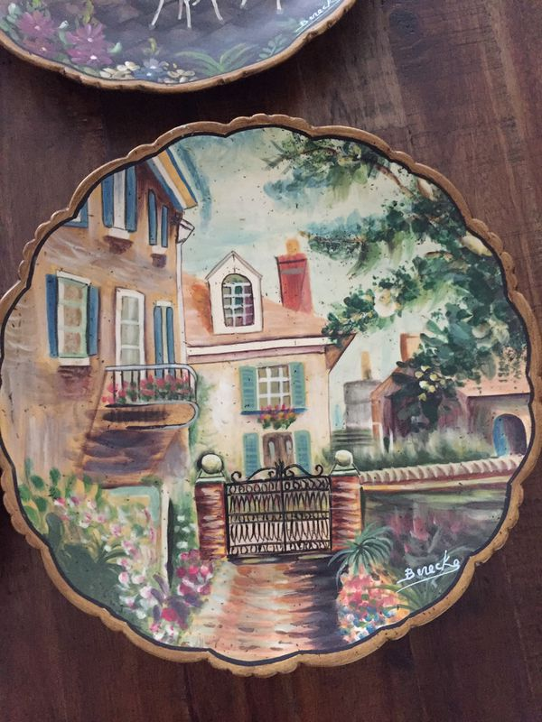 Hand painted/signed plates