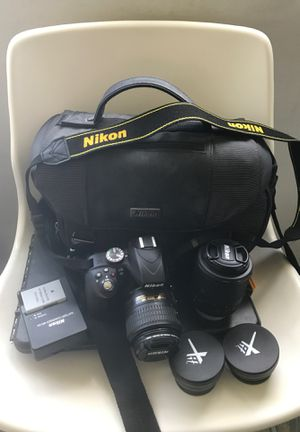 Nikon DD3300. With 4 lenses and charger,two battery, and original carry bag. Asking price $500.00. for Sale in Los Angeles, CA