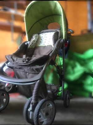 green and grey chico stroller great condition p u little chute for Sale in Little Chute, WI