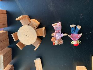 Wooden doll furniture and dolls for Sale in Irvine, CA