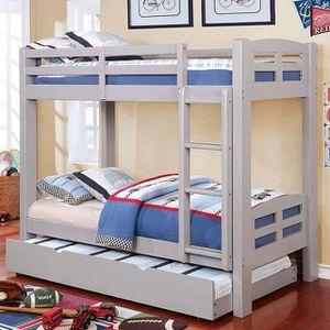 GRAY FINISH TWIN SIZE BUNK BED / LITERA SENCILLA GRIS for Sale in Riverside, CA