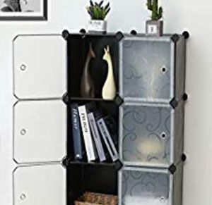 "6-Cube Cabinet Closet Storage Organizer W/Doors ( measure14.4"" x 43.7"" x 29.9"") for Sale in Ontario, CA"